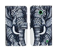 Elephant Pattern PU Leather Full Body Cover with Card Slot for Nokia Lumia 630/635