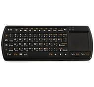 Bluetooth 3.0 handheld mini-teclado com touchpad e lanterna, língua árabe