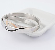 Fashion Love Hearth Shape 316L Stainless Steel Couple Bangle