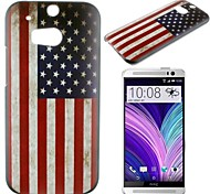 Stars and Stripes Pattern PC Hard Case for HTC M8