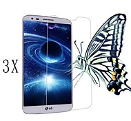 [3-pack] alta transparencia de cristal LCD protector de pantalla transparente profesional con paño de limpieza para lg g2
