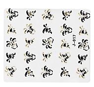 5pcs bunter Schmetterling Nail Art Sticker