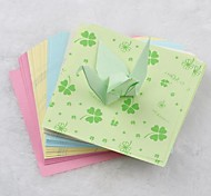 5 Color 6.5cm Clover Pattern Papercranes Origami Materials(150 Pages/Package)