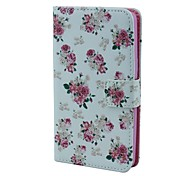 Roses Pattern Full Body Case with Card Holder  for Sansung Galaxy Alpha