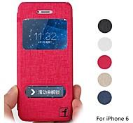 """couro de proteção pu caso de corpo inteiro de impressão de seda com suporte e slot para cartão para o iPhone 6 4.7 """"- (cores sortidas)"""