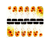 12st Chrysantheme Muster Wasserzeichen Nail Art Sticker c4-018
