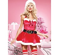 Santa Claus Red Dress Women's Christmas Costume