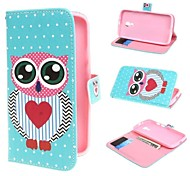 Adorable Owl and Polka Dot Wallet PU Leather Case Cover with Stand and Card Slot for Motorola Moto G2 XT1063 Dual Sim