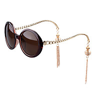 100% UV400 Women's Round Polycarbonate Fashion Sunglasses