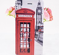 Telephone Booth Pattern Leather Full Body Cases with Stand for iPhone 6