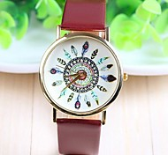 Women's Fashion Style PU Band Quartz Analog Wrist Watch (Assorted Colors) Cool Watches Unique Watches