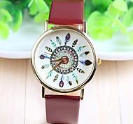 Women's Fashion Style PU Band Quartz Analog Wrist Watch (Assorted Colors)
