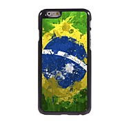 Watercolor Brazilian Flag Design Aluminum Hard Case for iPhone 6
