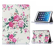 Elegant Flower Design Leather Case with Stand for iPad Mini 3
