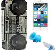 le modèle de l'enregistreur TPU étui souple avec support et film de protection pour iPhone 6