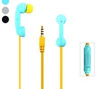 tubes de téléphone élégant m70 casque de 3,5 mm en forme de casque intra-auriculaire avec microphone pour iPhone 6/6, plus samsung S4 / S5