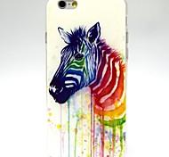 Zebra Pattern TPU Soft Case for iPhone 6