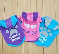 Cat / Dog Hoodie Blue / Purple / Rose Dog Clothes Winter Cartoon / Letter & Number Wedding / Cosplay