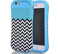 2 in 1 Wellenmuster kleine hübsche Taille fester pc + tpu weiche Hybrid Case für das iPhone 6