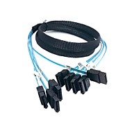 1m 3ft 4 SATA To 4 SATA 7Pin SAS Hard Disk Server Raid Card Data Cable 6Gbps