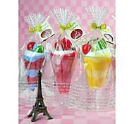 tovagliolo creativo regalo di compleanno tazza di bevanda in fibra di forma (colore casuale)