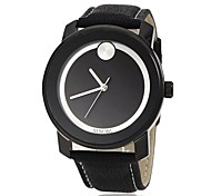 Men's Fashion Black Dial Leather Band Quartz Wrist Watch (Assorted Colors)