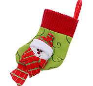 6inch Christmas Ornament Socks Snowman Pattern ,Fabric