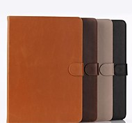 High Quality PU Leather Full Body Case With Wallet and Card Slot and Stand for iPad Air 2(Assorted Colors)