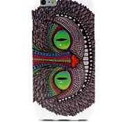 Green Eye Owl Pattern TPU Soft Case for  iPhone 6