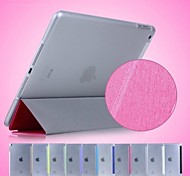 Simple Triple Fold Silk Print PU Leather Plus PC Stand Case for iPad Air