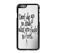 Don't Dig Up Pattern Aluminum Hard Case for iPhone 6