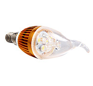 Luces LED en Vela Regulable E14 3W 3 LED de Alta Potencia 270 LM Blanco Natural AC 100-240 V