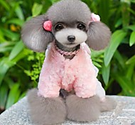 Lovely Little Pink Shinning Bear Jumpsuits Coats for Pets Dogs Dog Clothes (Assorted Sizes)
