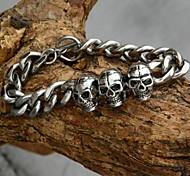Men's Classic (Original Design Skull Head) Stainless Steel Link