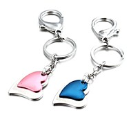 1 paio di colore della caramella a due strati in lega di zinco cuore paio portachiavi (primi 10 clienti con box aggiunta)