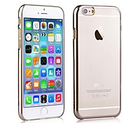 Scratch Resistant Electroplate Frame Transparent Back Hard Case for iPhone 6 Plus (Assorted Color)