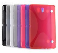 x forma del diseño del caso del tpu gel estilo simple para samsung galaxy tab 8.4 s t700 T705 (colores surtidos)
