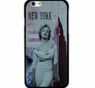Marilyn Monroe And New York City Pattern PC Hard Back Cover Case for iPhone 6
