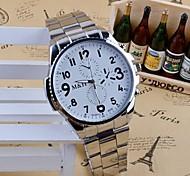 Herrenmode Stahlband-Quarz-Armbanduhr