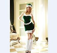 Green Sleevless Halloween Dress  Adult Woman's Christmas  Costume