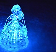 LED Color Change Transparent Frozen Gril Shaped Mini Light Christmas Props