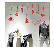 zooyoo® bonito pvc imagem natal removível colorido pingente de adesivos de parede adesivos de parede de venda quente para a decoração da