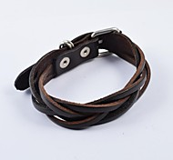 Fashion Men's Belt Buckle PU Leather Bracelets Jewelry