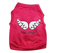 Lovely Angel Wings Pattern 100% Cotton Vest for Pets Dogs (Assorted Color Sizes)