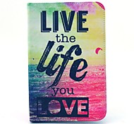 leef het leven je liefde patroon full body case met standaard voor Samsung Galaxy Tab 2 7.0 P3100