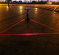 UNGROL 3 Red Straight Lines 1 Laser Module 6 LED 6 Flash Mode Black Bike Warning Laser Light