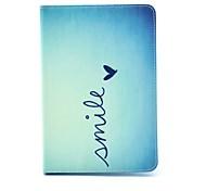 Coco fun® bonito padrão de coração caso estande pu tampa de couro com filme e stylus para o mini apple ipad 1/2/3