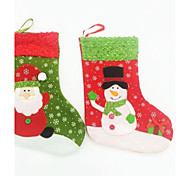 24CM Christmas Socks for Christmas Party Decoration 2pcs(Random Colour)