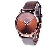 Men's Slim PU Band Quartz Wrist Watch