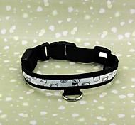 Adjustable 3-Mode White Light 1-LED Nylon Pet Safety (Size M)